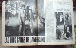 James Bond Roger Moore Jane Seymour Nota Año 1973 La Nacion