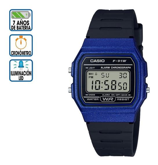 Reloj Casio Core Digital F-91wm-2acf