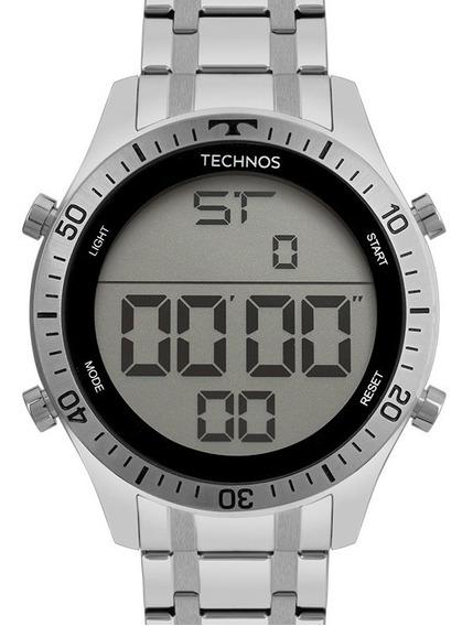 Relógio Technos Masculino Racer Digital Prateado