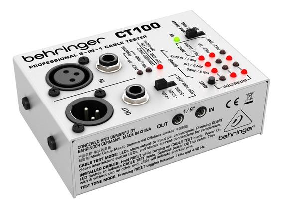 Testador De Cabos Behringer Ct100 6 Em 1 Profissional