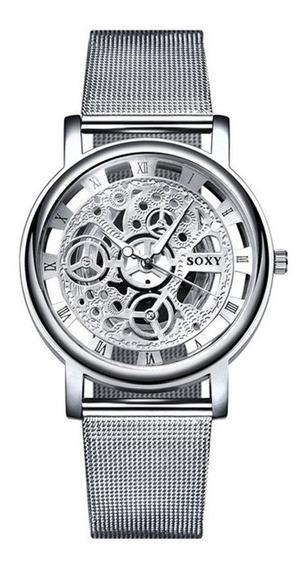 10 Relógios Aço Inoxidavel Luxo Unissex Masculino Feminino
