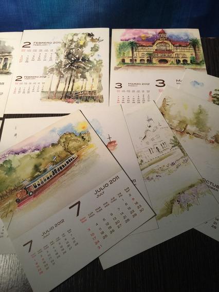 Calendarios 2011 Postales Lugares De Tigre Acuarelas
