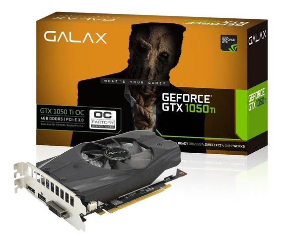 Placa de vídeo Nvidia Galax GeForce GTX 10 Series GTX 1050 Ti 50IQH8DSN8OC OC Edition 4GB