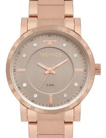 Relógio Technos Feminino Rose Gold 2036mjq/4c