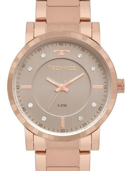 Relógio Technos Feminino Rose Gold