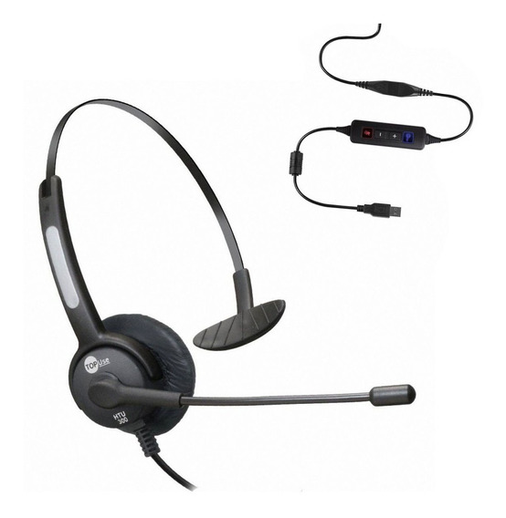 Headset Usb Unilateral C/ Microfone E Anti Ruído Htu-300 Top