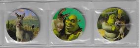 2008 - 3 Tazos Da Coleção Mcdonald´s Shrek Em Plástico