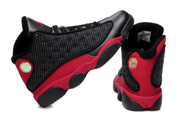 Jordan Retro 13 Negro Rojo