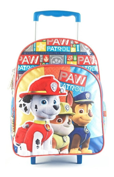 Mochila Con Carro Paw Patrol Escolar 16 88503 Mapleweb