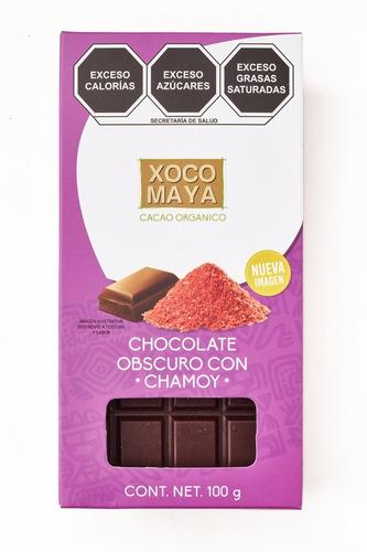 Imagen 1 de 6 de Barra De Chocolate Oscuro Con Chamoy Xoco Maya