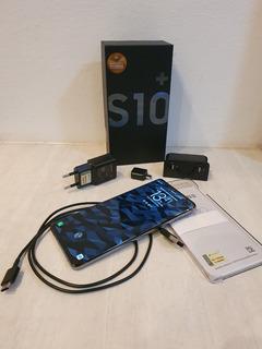 Celular Galaxy S10+ 128gb Preto Impecável Com Nf E Garantia!