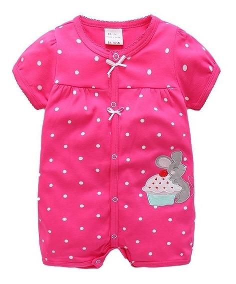 Macacão Curto Bebê Abertura Frontal- Romper