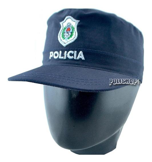 Kepi Quepi Gorro Policia Estampado Tela Rip Stop Plata / Oro