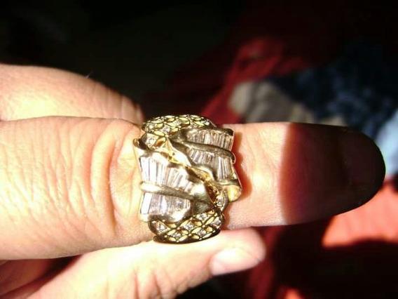 Anillo De Oro 18 K. Con Diamantes Y Brillantes