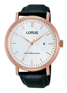Reloj Lorus By Seiko Rh988dx9 Dorado Hombre Pulsera De Cuero