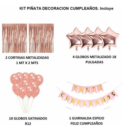 Imagen 1 de 2 de Kit De Decoración Fiesta , Varios Colores , Leer Bien Descri
