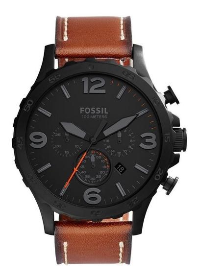Relógio Fossil Nate Masculino Com Pulseira De Couro Jr1524/2