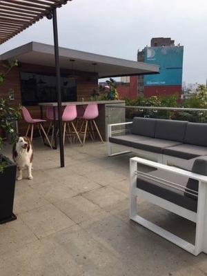 Pent-house Con Espectacular Vista Y Roof Garden Privado