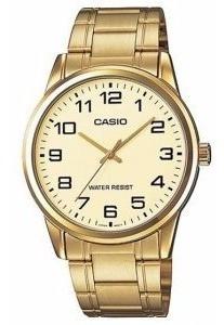 Relógio Casio Masculino Pulseira Mostrador Dourado Original