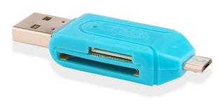 Lector De Memoria Sd Micro Sd - Otg Usb - Micro Usb + Envio