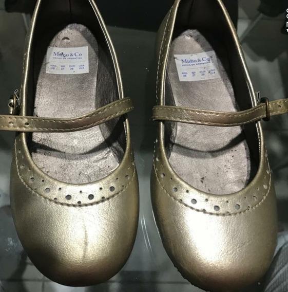 Zapatos Dorados Para Nenas Marca Mimo &co N°28
