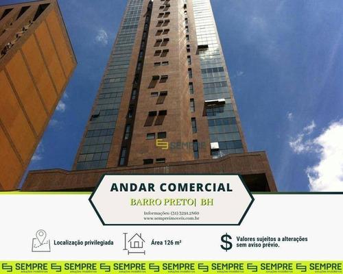 Imagem 1 de 27 de Andar Corporativo Para Alugar, 126 M² - Barro Preto - Belo Horizonte/mg - Ac0039