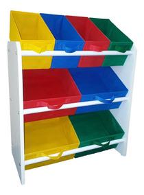 Organizador De Brinquedo Médio Armário Colorido Organibox