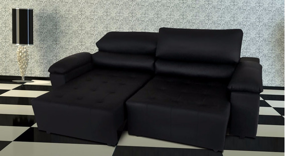 Sofa De Couro Retratil E Reclinavel 2 Mod. San Marino 2,10m