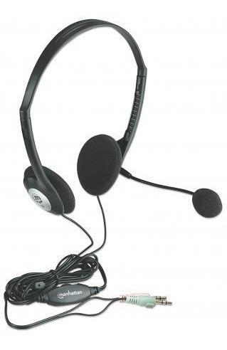 Audífono C/micrófono Estándar Plástico Manhattan 164429