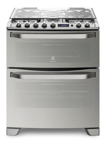 Cocina Doble Horno Electrolux 76xdr A Gas Acero Inoxidable