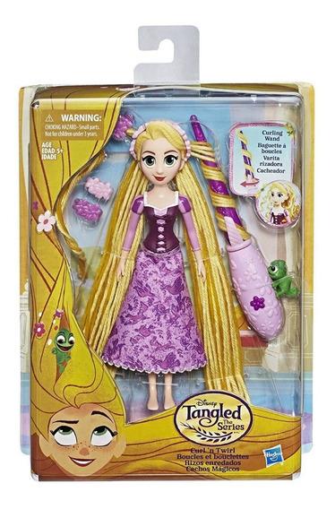 Muñeca Princesa Disney Rapunzel Rizos Enredados E0180 Hasbro