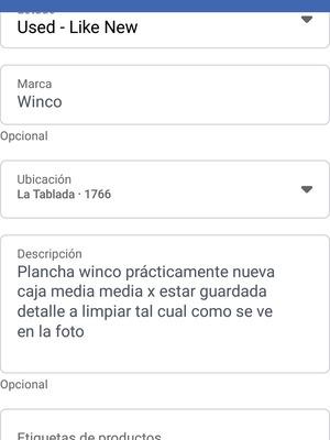 Plancha Winco
