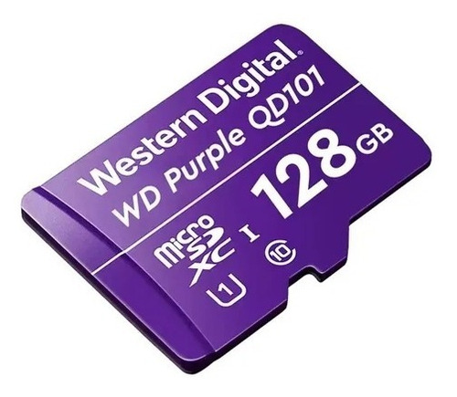 Imagen 1 de 4 de Memoria Micro Sd Sdxc 128gb Wd Purple Surveillance Clase 10