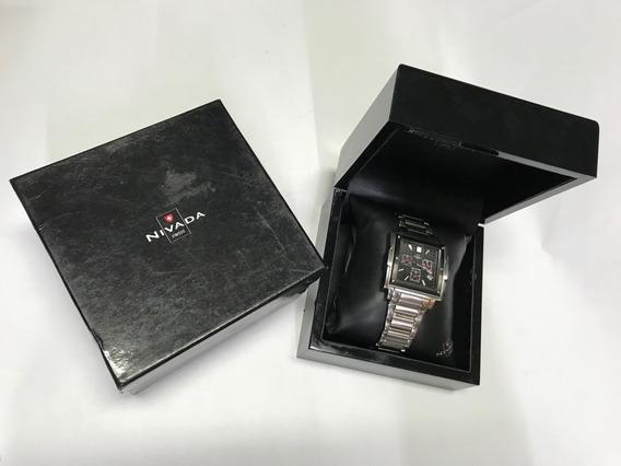 Reloj Nivada Moonmaster Suizo Gc3171g/1 Caja
