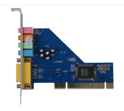 Tarjeta De Sonido Audio 4 Canales Pci Computador Chip 3d