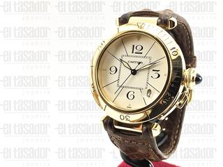 Reloj Pasha De Cartier De Oro Caballero *joyeriaeltasador*