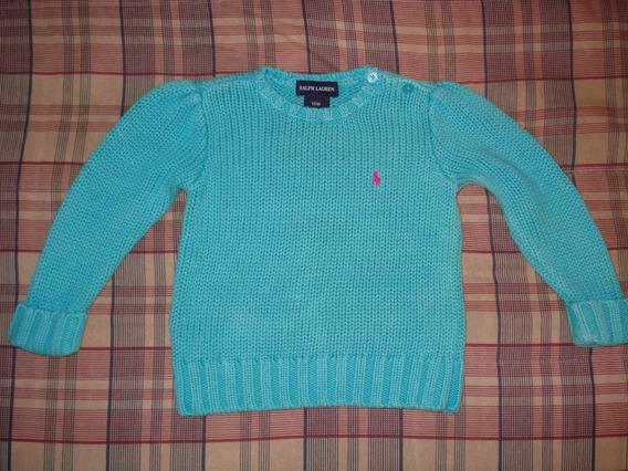 Sweater De Hilo Ralph Lauren De Excelente Calidad Turquesa