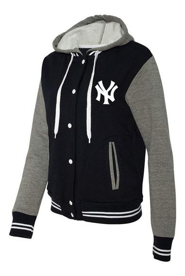Chaquetas Universitarias Con Capucha New York Yankees Mlb