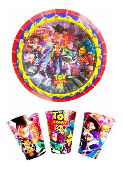 Toy Story 4 50 Platos Y 50 Vasos Fiesta Envío Gratis