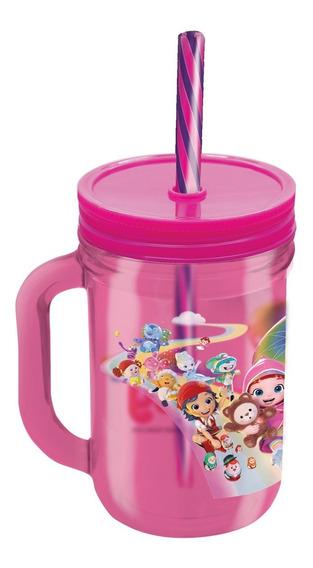 Caneca Infantil Com Canudo Rainbow Ruby Zippy Toys