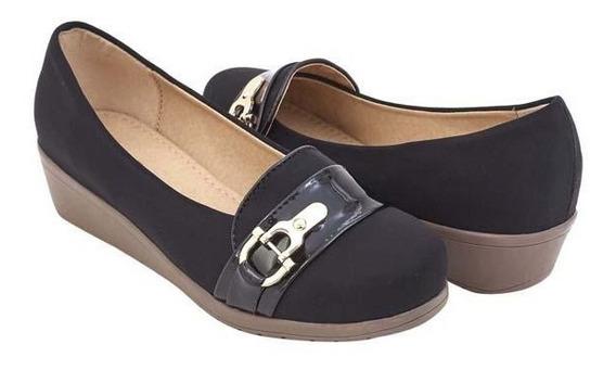 Zapatos Mocasín Dama Casuales Negro Mundo Terra 017154