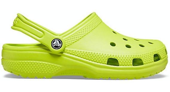 Crocs Originales Classic Lime Punch Verdes Mujer Hombre