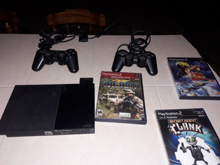 Playstation 2, 2 Controles, 1 Memoria De 128gb, Y 3 Juegos