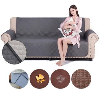 Cubre Sofa Reversible Funda Protector Ajustable 2 Cuerpos