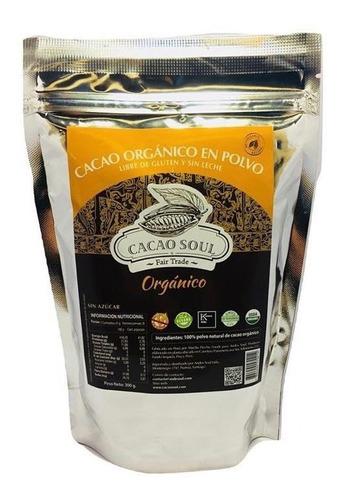 Cacao Orgánico En Polvo 300g Sin Azucar Sin Gluten Sin Leche