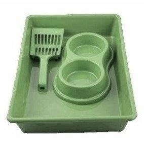 Kit Bandeja Pá Comedouro Higiene Gato
