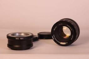 Lente 50mm 1.7 + Adaptador Para E-mount A7 Sony