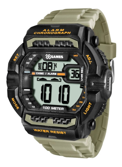 Relógio X-games Masculino Digital Xgppd089 Bxex Militar