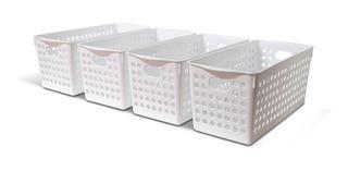 Organizador Rectangular Calado Plastico X4 U Colombraro
