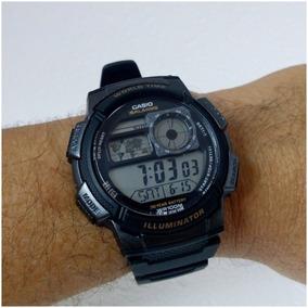 Relógio Casio Horário Mundial Ae1000w Original, Prova Dágua